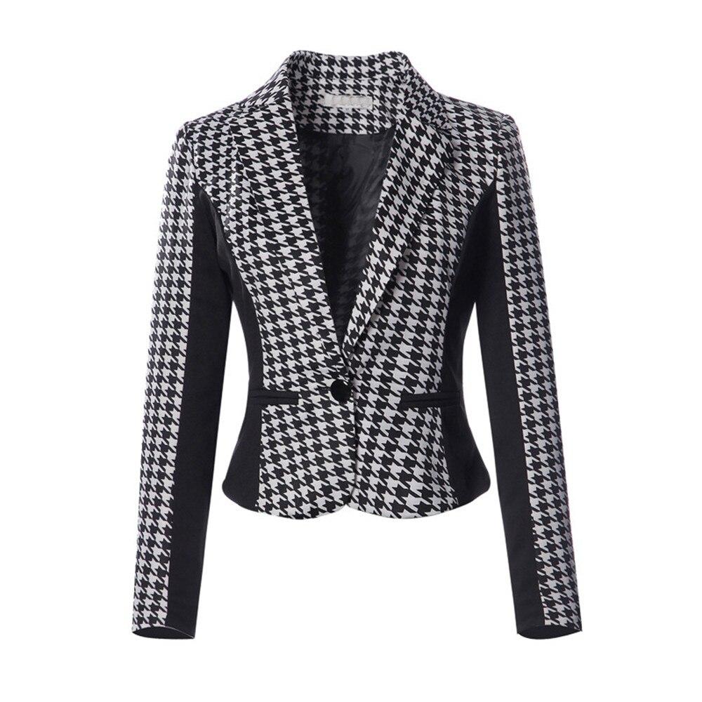 Office Wear to Work Suit Women Slim Fit Jacket Blazer Coat Tops Plus Size
