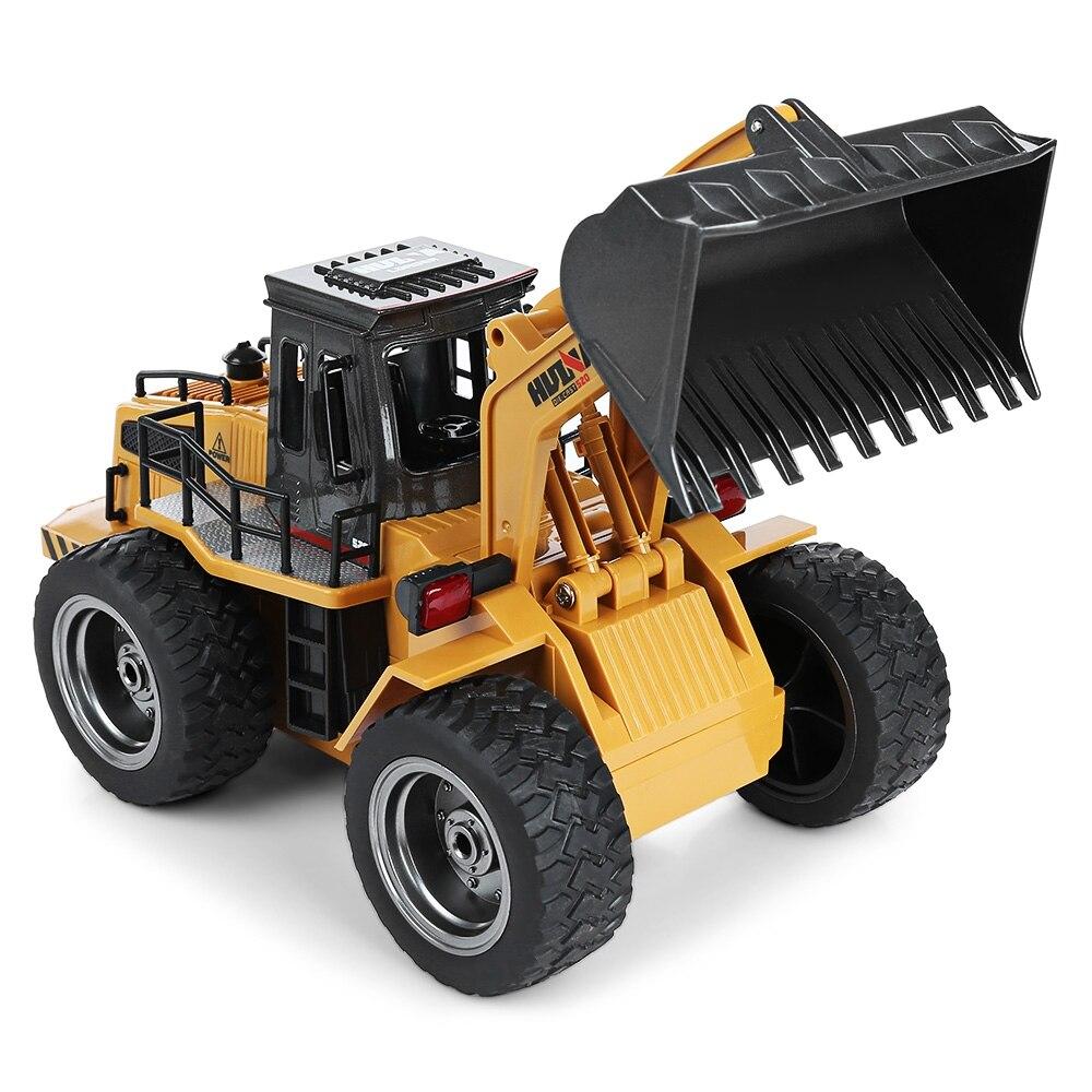 HuiNa1520 RC voiture 6CH 1/14 camions métal Bulldozer charge RTR télécommande camion Construction véhicule voitures pour enfants jouets cadeaux