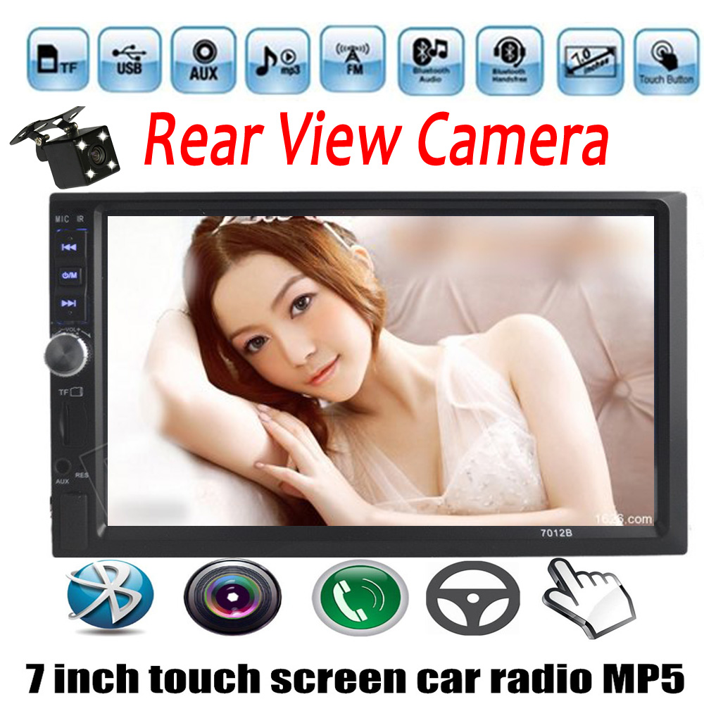2 din size 7 Inch Bluetooth touch Screen Car Audio Stereo MP5 Player Auto Support AUX FM USB TF stereo with rear view camera car radio audio stereo with 2usb bluetooth tf fm mp4 player touch screen support rear camera hot sale 2din 6 2 inch
