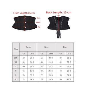 Image 4 - Burvogue espartilhos de treino, corselete modelador de emagrecimento, cinto curto, de cetim, amarrar, sensual