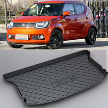 LUCKEASY For Suzuki Ignis Non-Slip Waterproof 3D TPO Trunk Boot Cargo Mat Recycled Durable Car-styling
