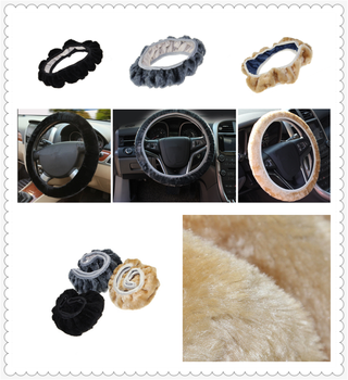 Car steering wheel cover plush super soft handle telescopic for BMW E34 F10 F20 E92 E38 E91 E53 E70 X5 M M3 image