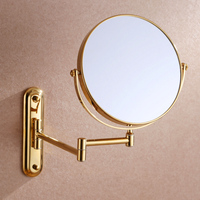 Luxury Gold 3x 1x Magnifying Wall Mount Makeup Mirror 8 Inch Two Sided Extendable Bathroom Vanity Mirror Cosmetic mirror