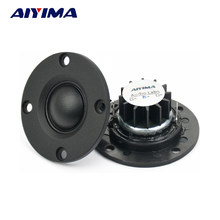 "AIYIMA 2Pcs Tweeter 1""inch 6Ohm 30W Dome Silk Film Tweeter Hifi Treble Speaker Audio Loudspeaker With Heatsink(China)"