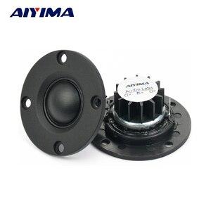 "AIYIMA 2Pcs Tweeter 1""inch 6Ohm 30W Dome Silk Film Tweeter Hifi Treble Speaker Audio Loudspeaker With Heatsink(China)"