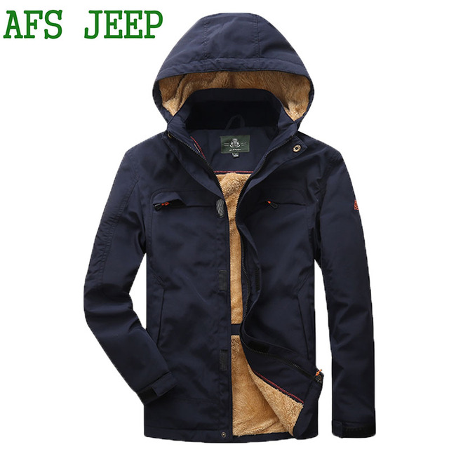Afs Jeep Winter New Famous Brand Men S Jacket Keep Warm Hat Jackets