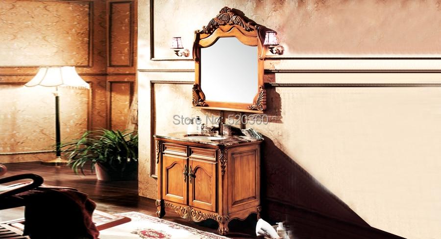 brown oak and ash board, green marble cabinet and mirror,  Bathroom Vanities
