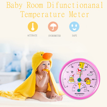 Wholesale Standard Lovely Baby Room Temperature Instruments Hygrometer Meter Wall Mounted Standing Humidity Meter&Thermometer