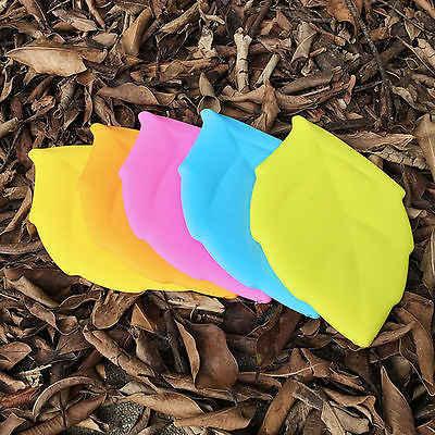 ポータブルソフトシリコン葉の形状キャンプハイキングホーム水ドリンクポケットカップ