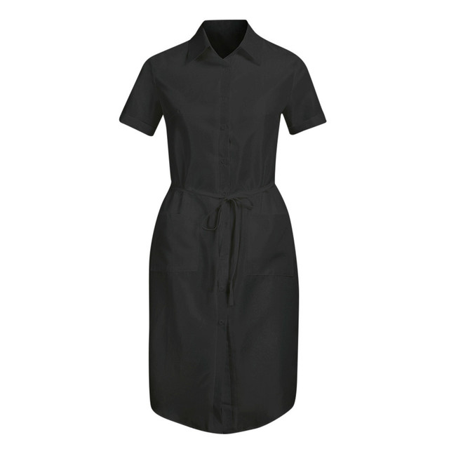 242b3a6e01a Summer Dresses for Women Casual Work Short Sleeve Sexy Solid Button Down  Lace Up Mini Shirt Dress White Black