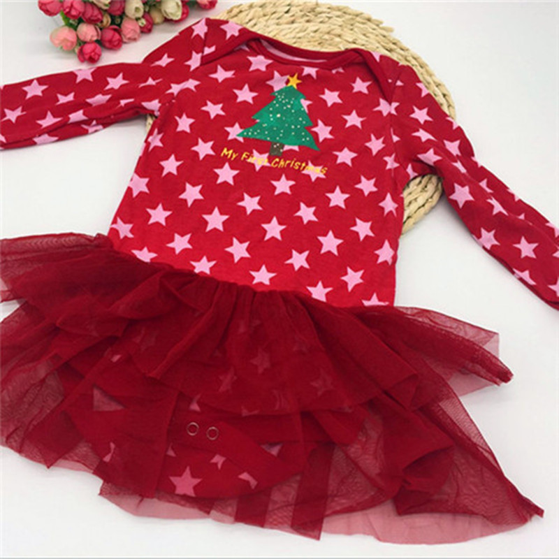 baby rompers Christmas Girls baby jumpsuits  cotton newborn  long sleeve baby Christmas gift free shipping 1pcs/lot cMC001 warm thicken baby rompers long sleeve organic cotton autumn