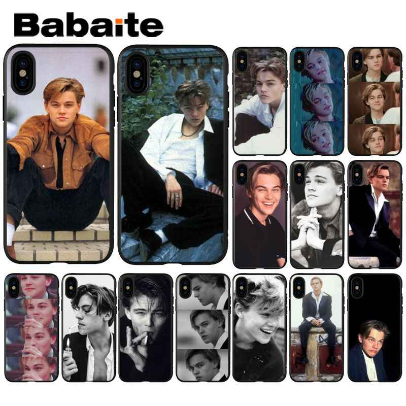 Babaite Leonardo DiCaprio TPU black Phone Case Cover Shell for iPhone 5 5Sx 6 7 7plus 8 8Plus X XS MAX XR
