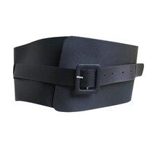 New Fashion Black Brown Waist Genuine Leather Belt Dress Coat Decorated Ceinture Luxury Girdle Black Wide Belt cummerbunds цена 2017