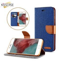 KISSCASE Stand Portefeuille Flip Cas Pour iPhone 6 6 s 7 X 5S se Mode Couleur Card Slot Couverture En Cuir pour iPhone X 7 6 6 s Plus 5S 5 SE
