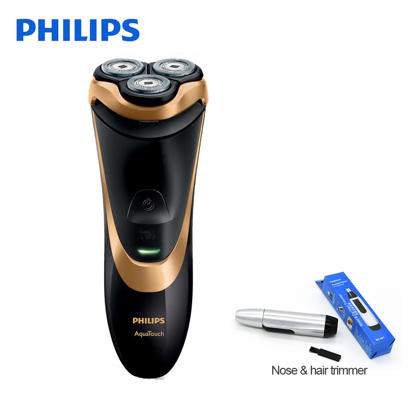 Original Philips Electric Shaver AT798 Rotary Rechargeable Washable For Men Wth Triple Floating Blades Support Wet&Dry Shaving power 3d floating rotary washable men s electric beard shaver rechargeable travel electric razor with pop up trimmer wet and dry