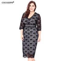 sexy lace dresses women plus size 6xl bandage dresses Ladies evening Party Dress femme vestidos 2017 autumn big large size dress
