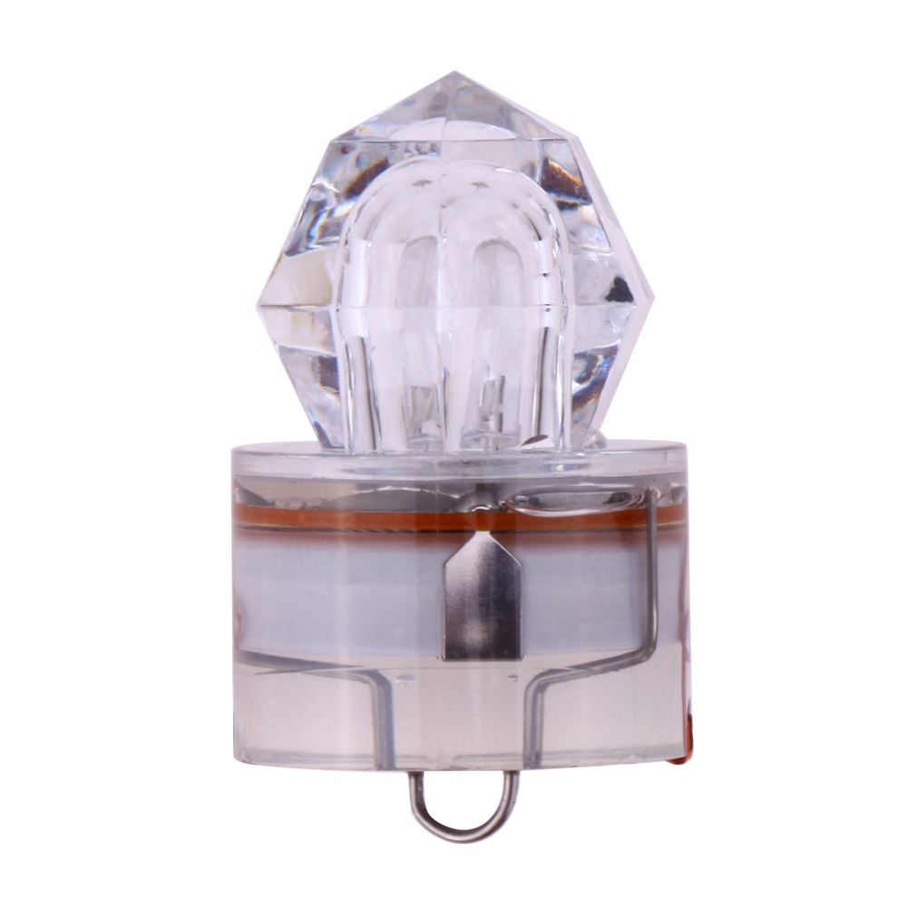 LED Deep Drop Underwater Diamond Fishing Flashing Bait Lure Squid Strobe Transparent Color Fishing Lure Tackle Accessories Pesca