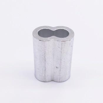 Wkooa M8 Aluminum Ferrules wire rope aluminum ferrules sleeve 100 pieces