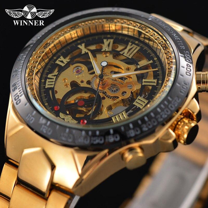 font b WINNER b font Top Brand Luxury Men s Wrist Watch Men Military Sport
