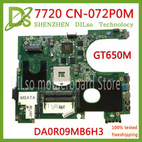 KEFU 17R N7720 For DELL 5720 7720 motherboard CN 072P0M 072P0M motherboard DA0R09MB6H1 DA0R09MB6H3 2D GT650M 2GB work 100%
