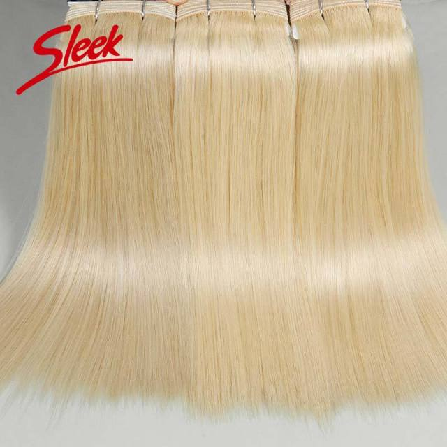 Sleek 613 Blonde Virgin Hair,  Brazilian Straight Hair Sexay,   Best  Human Hair  Weave Bundles,  Thickest  3pcs Free shipping