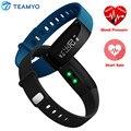 V07 teamyo smartband heart rate monitor de pressão arterial do bluetooth relógio inteligente pulseira de fitness rastreador à prova d' água para ios android