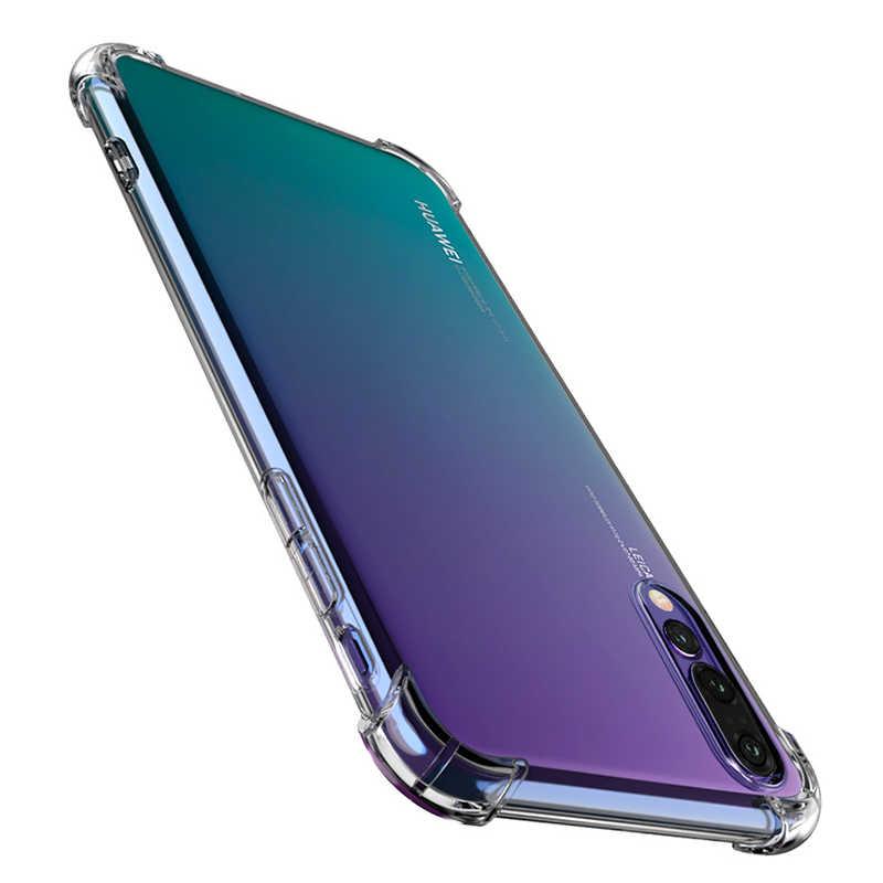 Ekdme Silikon Phone Case untuk Huawei P20 Lite Mate 10 Pro 20 Lite Nova 3i 3 Bening TPU Cover Case untuk Kehormatan 9i 9 Lite Tritone