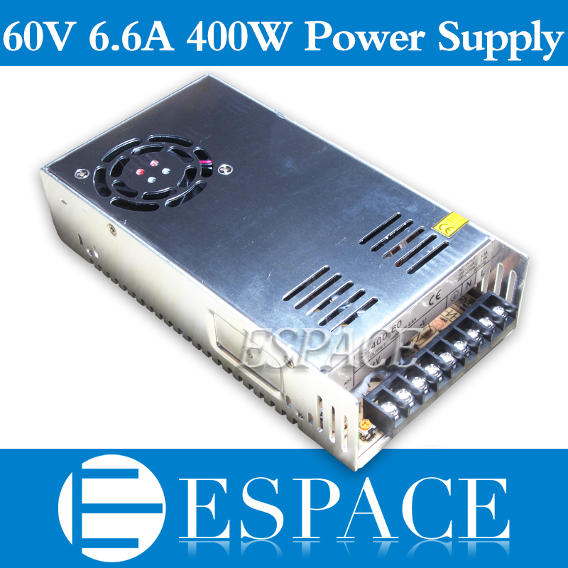 Best quality  60V 6.6A 400W Switching Power Supply Driver SMPS CNC AC 100-240V Input to DC 60V free shippingBest quality  60V 6.6A 400W Switching Power Supply Driver SMPS CNC AC 100-240V Input to DC 60V free shipping