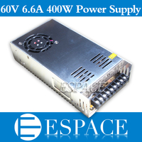 Best quality 60V 6.6A 400W Switching Power Supply Driver SMPS CNC AC 100 240V Input to DC 60V free shipping