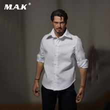 1 6 Scale Male Clothing White Casual Shirts Model Toys For 12 Action Figure Body Accessory