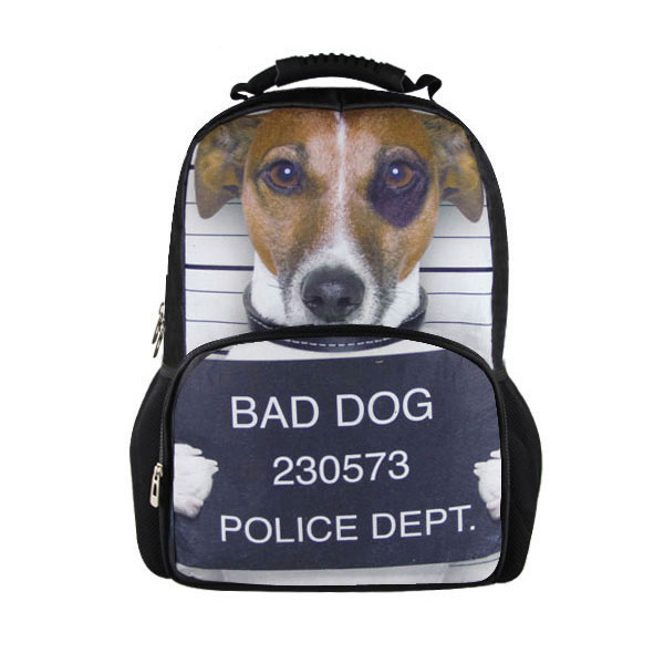 Forudesigns 3d Mens Travel Backpack Children Animal Jack Russell