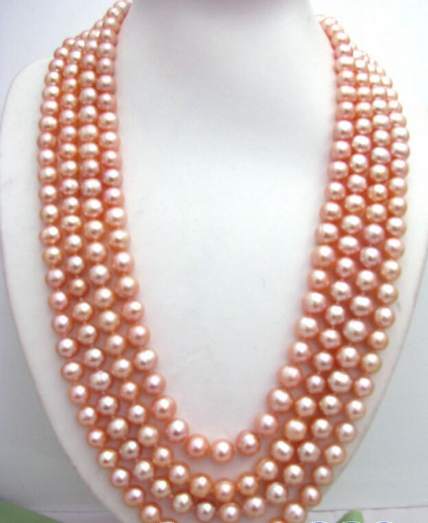 """100""""10mm round pink freshwater pearl necklace ^^^@^Noble style Natural Fine jewe FREE SHIPPING"""