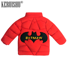 KeRuiShu Kids Clothes Winter Coats for Girls Snowsuit Outerwear Children Cartoon Bat Hoodie Jackets Red Thicken Warm Parkas Coat
