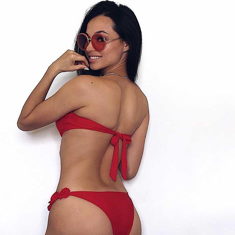 2019 White Flower Bikini Female Bather Black Floral Swimsuit Sexy Brazilian Bathing Suit Push Up Swimming Women Swimwear