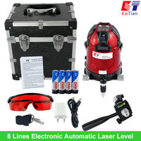 Kaitian Rotary Laser Level 8 Lines 1 Point With Battery Tilt Slash Function Electronic Automatic Level