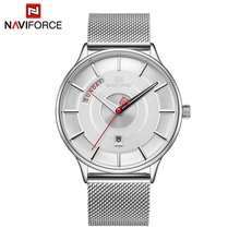 NAVIFORCE 2019 Top Brand Luxury Men Watch Mens Watches Quartz Clock Male Sport Steel Mesh belt Wrist Watch relogio masculino цена и фото