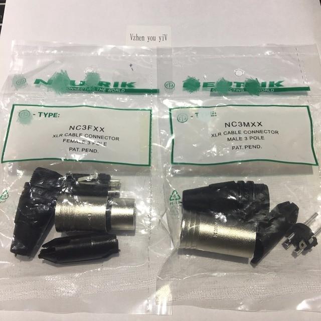 60PCS/lot original FOR NEUTRIK connector 30PCS NC3MXX & 30PCS NC3FXX Male et femelle Un ensemble 3 Broches XLR Connecteur avec!