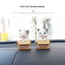 creative Car decoration Cute cat Car Ornaments Auto Interior Decorations Resin car crafts Shaking head gift for firend freeship недорого