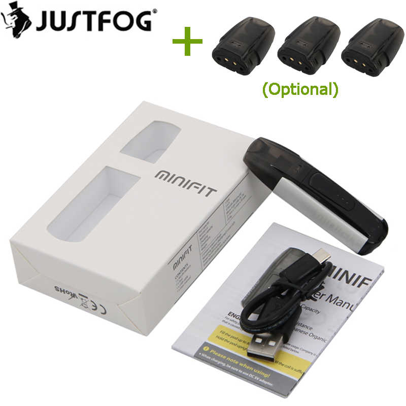 Originele Justfog Minifit Pod Kit met 370mAh Batterij en 1.5ml Tank Elektronische Sigaret Vape Pen All in one vaping Vaporizer