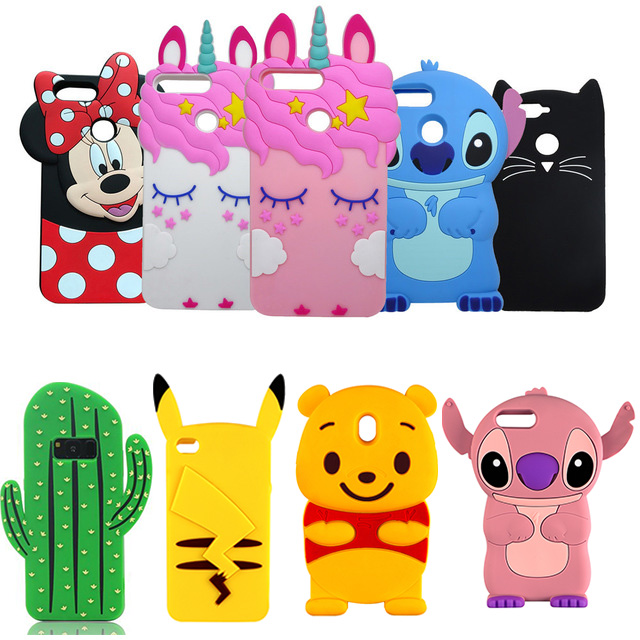 3D Cartoon Silicone Phone Case For iPhone 6 6S 5 S SE 7 8 Plus 10 Case Soft Coqu