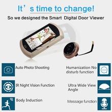 Cheap price Danmini Door Intercom Digital Door Camera Wired Video Intercom Viewer Doorbell PIR HD Door Peephole Camera Home Security