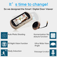 Danmini Smart Digital Door Viewer Peephole Camera With PIR Motion Detection Night Vision DND Function 4
