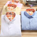 FOREMOST Brand clothing quality mercerized cotton long-sleeved shirt Bussiness casual classic solid color oxford men shirt M-5XL
