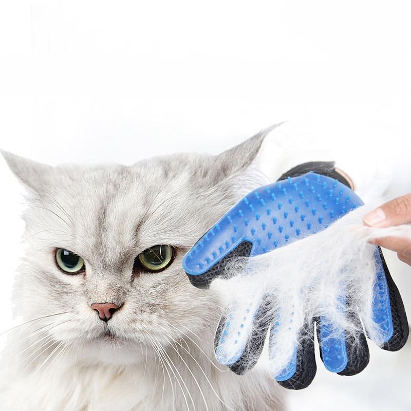 1pcst New Pet Cat Dog Gloves Environmentally Friendly Silicone Anti-scratch Massage Bath Gloves Waterproof Pet Supplies WSHYUFEI