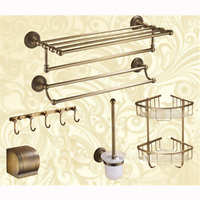 Luxury Brass Bathroom Hardware 6 Combination Discount Package AST3280 Towel Holder Paper Box Hook Brush Bathroom Accessories