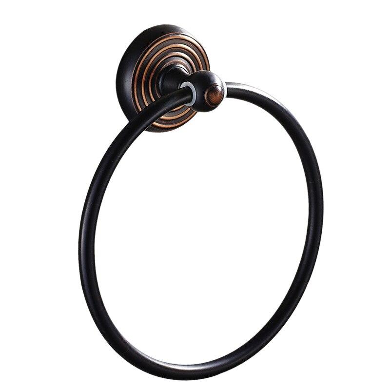Black Brushed Toilet Towel Ring Antique Copper Towel Bar