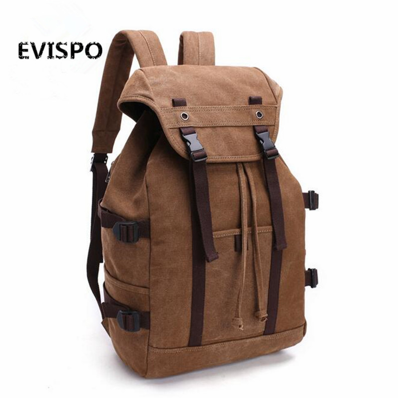 Canvas Backpacks Men Rucksacks Retro Travel Pack Teenager Backpack School Shoulder Bags College Boys Mochilas Simple