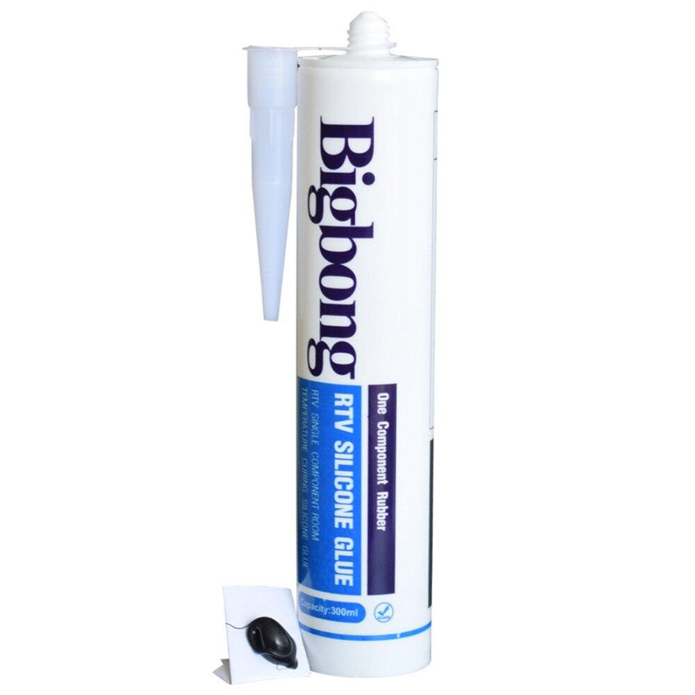 Black RTV Silicone Adhesive Sealant 300ml 1-part Paste Silicone Adhesive Rubber Sealant Metal Steel Aluminum Plastic Glass Glue