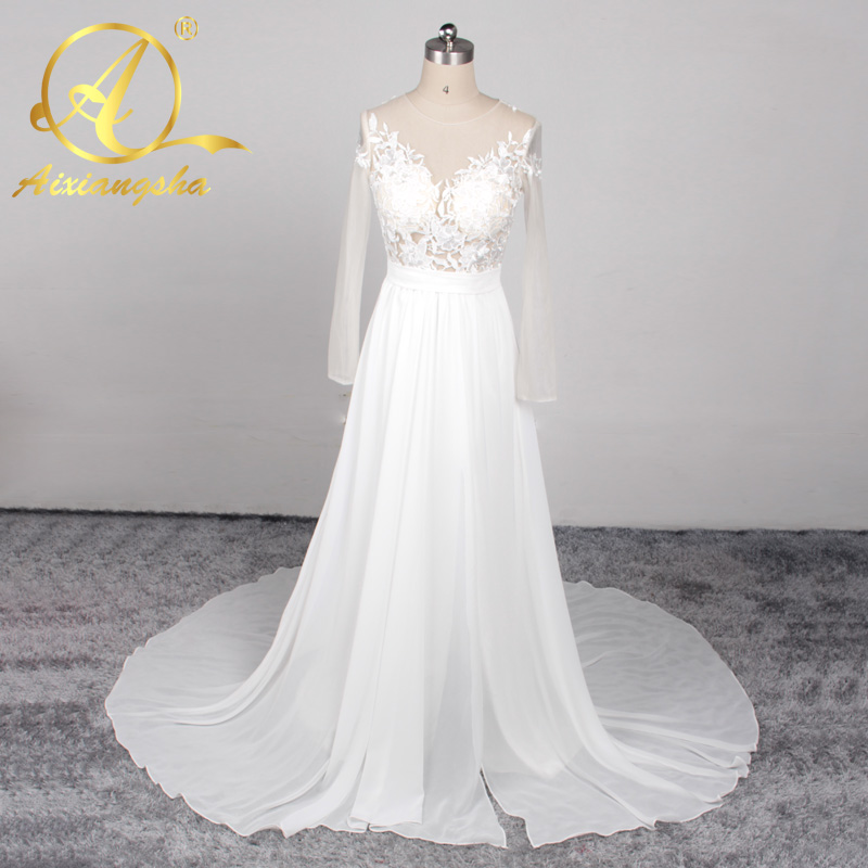 2016 new arrival wedding dress beach simple small wedding