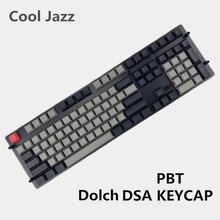 Teclas Dsa impresas en blanco, 108 87 61 pbt gruesas para teclado mecánico, perfiles Dsa, disposición ISO ANSI, envío gratis